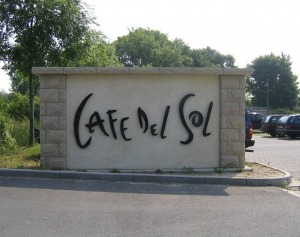 Einzelbuchstaben - Cafe del Sol