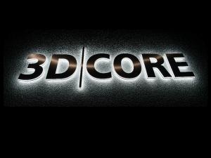 Leuchtbuchstaben - 3D Core Schrift