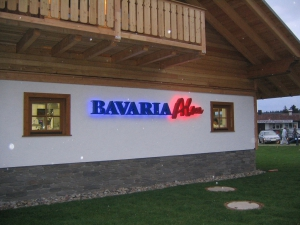 Leuchtbuchstaben - Bavaria Alm