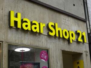 Leuchtbuchstaben - Haar Shop 21