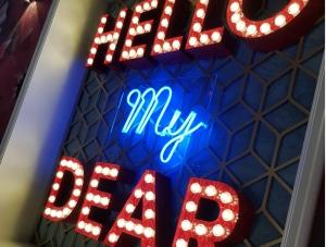 Leuchtbuchstaben - Hello my Dear 3