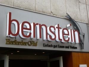 Leuchtbuchstaben - bernstein